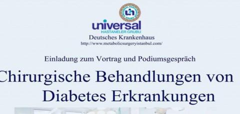 """Vortrag und Podiumsgespräch zum Vortrag """" Chirurgische Behandlungen von Diabetes Erkrankungen """""""