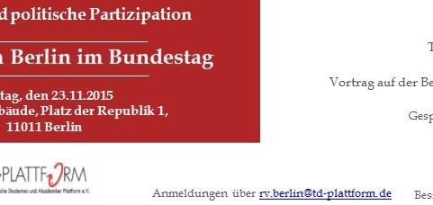TD-Plattform Berlin im Bundestag
