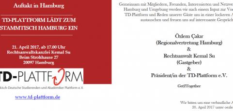 Einladung zum Auftaktstammtisch in Hamburg