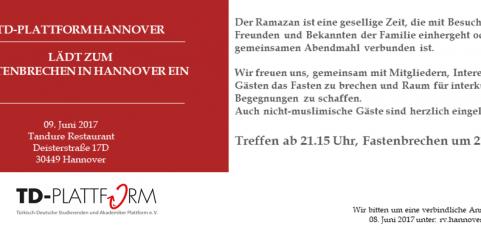 Einladung zum Iftar in Hannover