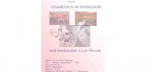 Stammtisch in Düsseldorf mit türk. Live Musik