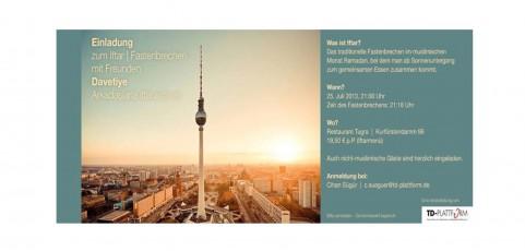 Fastenbrechen der TD-Plattform e.V. in Berlin